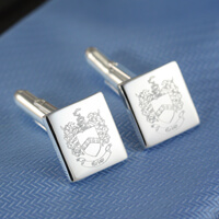 Personalised Silver & Gold Cufflinks