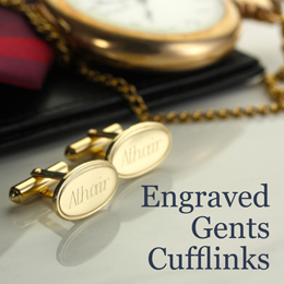 Engraved Gents Cufflinks