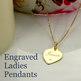 Engraved Ladies Pendants