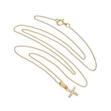 9ct Gold & Clear CZ Crystal Script Alphabet Letter X Necklace 16 - 20  Inches   Sayerslondon com