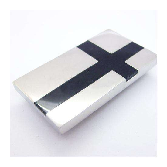 Black Cross Inlay Stainless Steel Money Clip