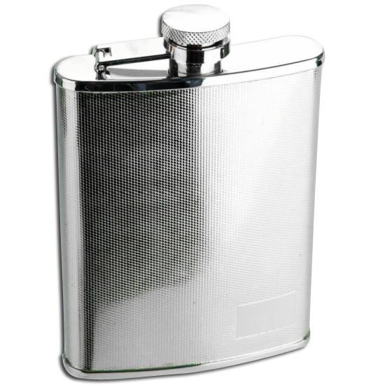 6oz Stainless Steel Textured Finish Hip Flask