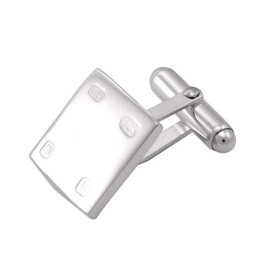 Sterling Silver Feature Hallmark Square Cufflinks