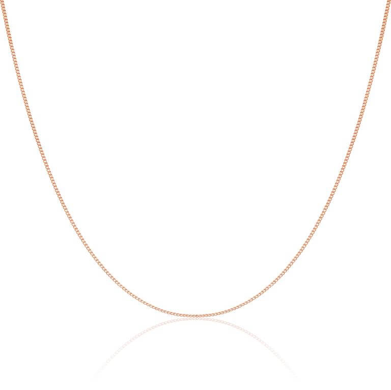 9ct Rose Gold Diamond Cut Curb Chain