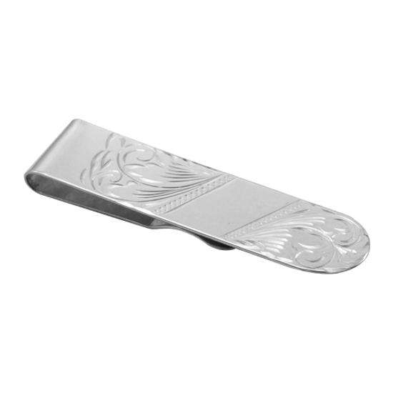 Sterling Silver Engraved Money Clip