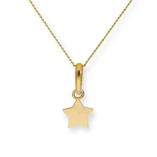 9ct Gold Star Pendant on Chain