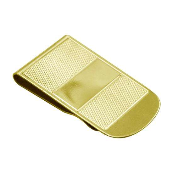 9ct Gold Broad Patterned Money Clip