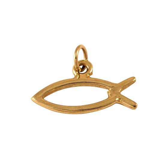 9ct gold fish charm