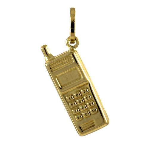 9ct Gold Mobile phone Charm