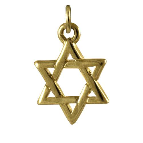 9ct Gold Star of David Charm