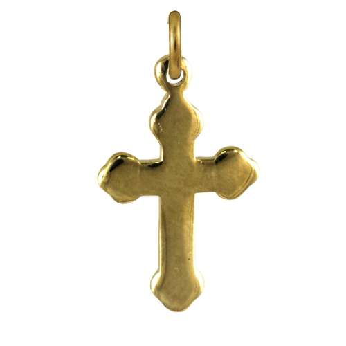 9ct Gold Gothic Cross Pendant - Pendant Only