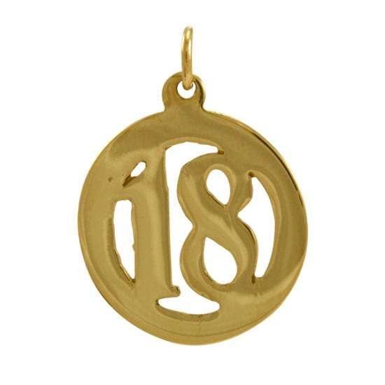 9ct Gold 18th Birthday Charm