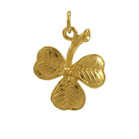 9ct Gold Shamrock Charm