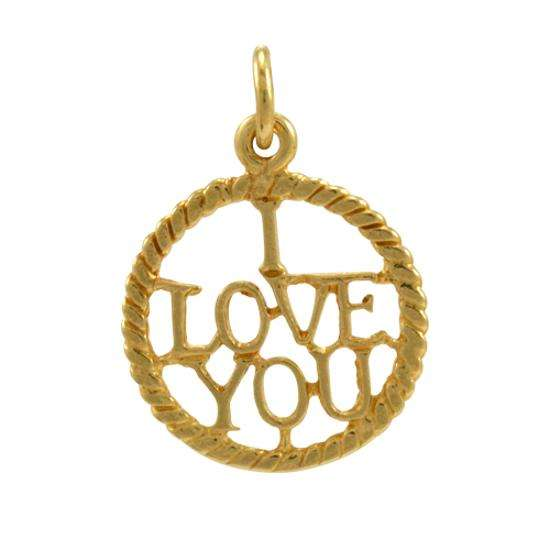 9ct Gold I love You Charm