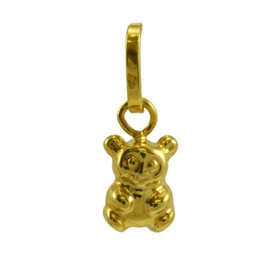 9ct Gold Tiny Hollow Teddy Charm