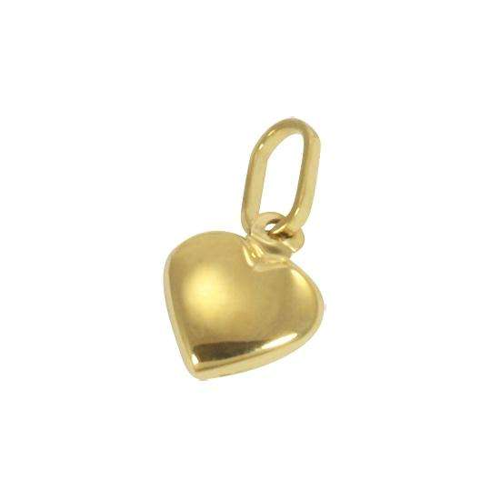 9ct Yellow Gold Hollow Tiny Puffed Heart Charm