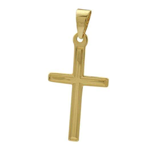 9ct Gold Art Deco Style Gold Cross