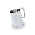 Handmade Pewter Double Band 1 Pint Tankard
