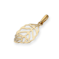 9ct Gold Cut Out Leaf Charm