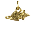 9ct Gold Small Mouse Charm