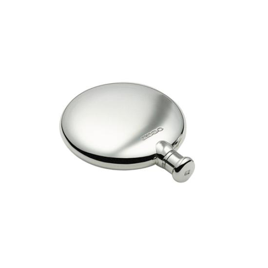 An image of Sterling Silver Round Plain Hallmarked Hip Flask