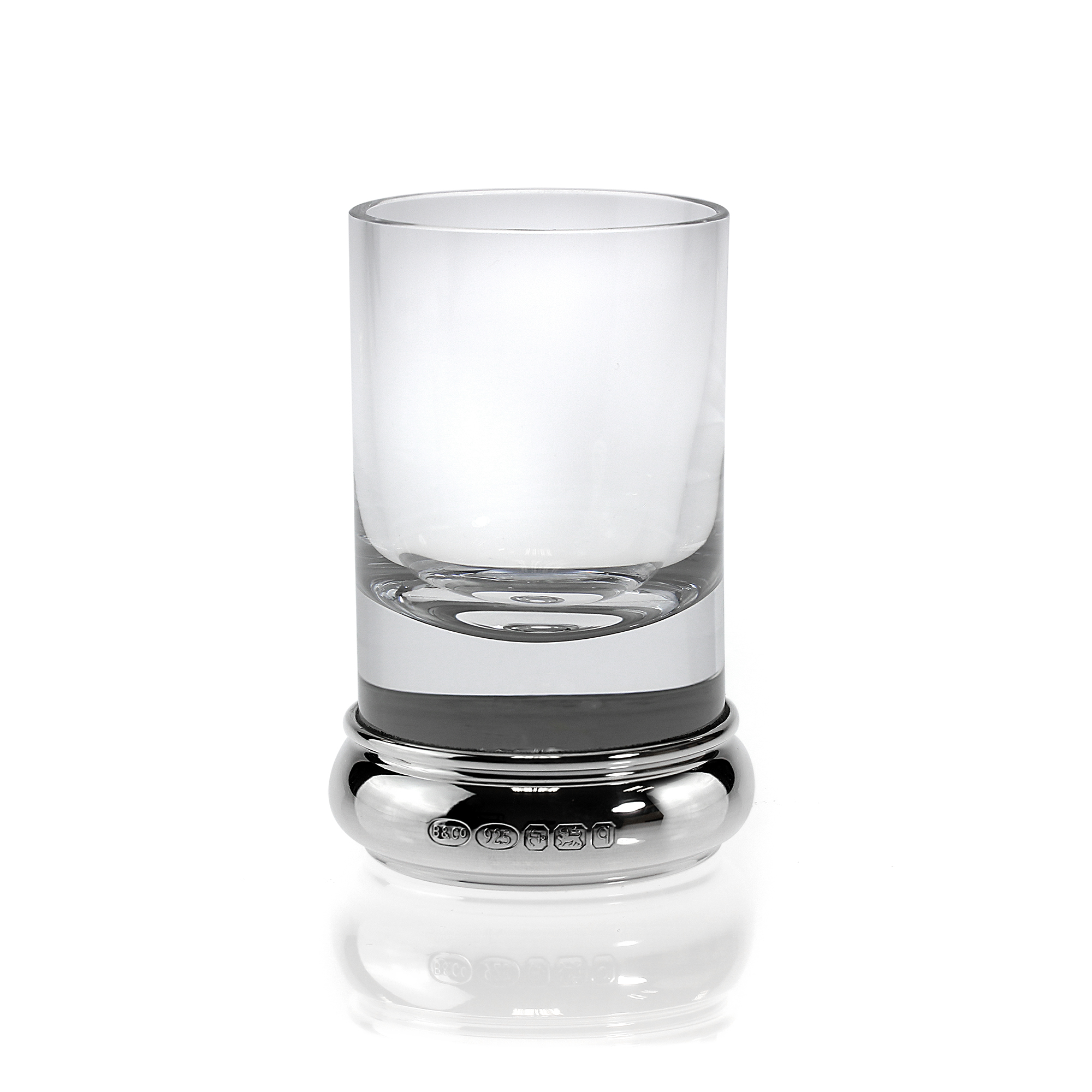 An image of Sterling Silver Feature Hallmark Engravable Shot Glass