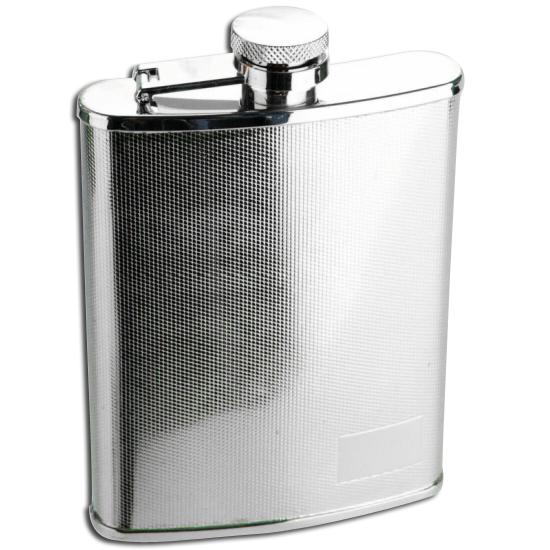 An image of 6oz Stainless Steel Textured Finish Hip Flask