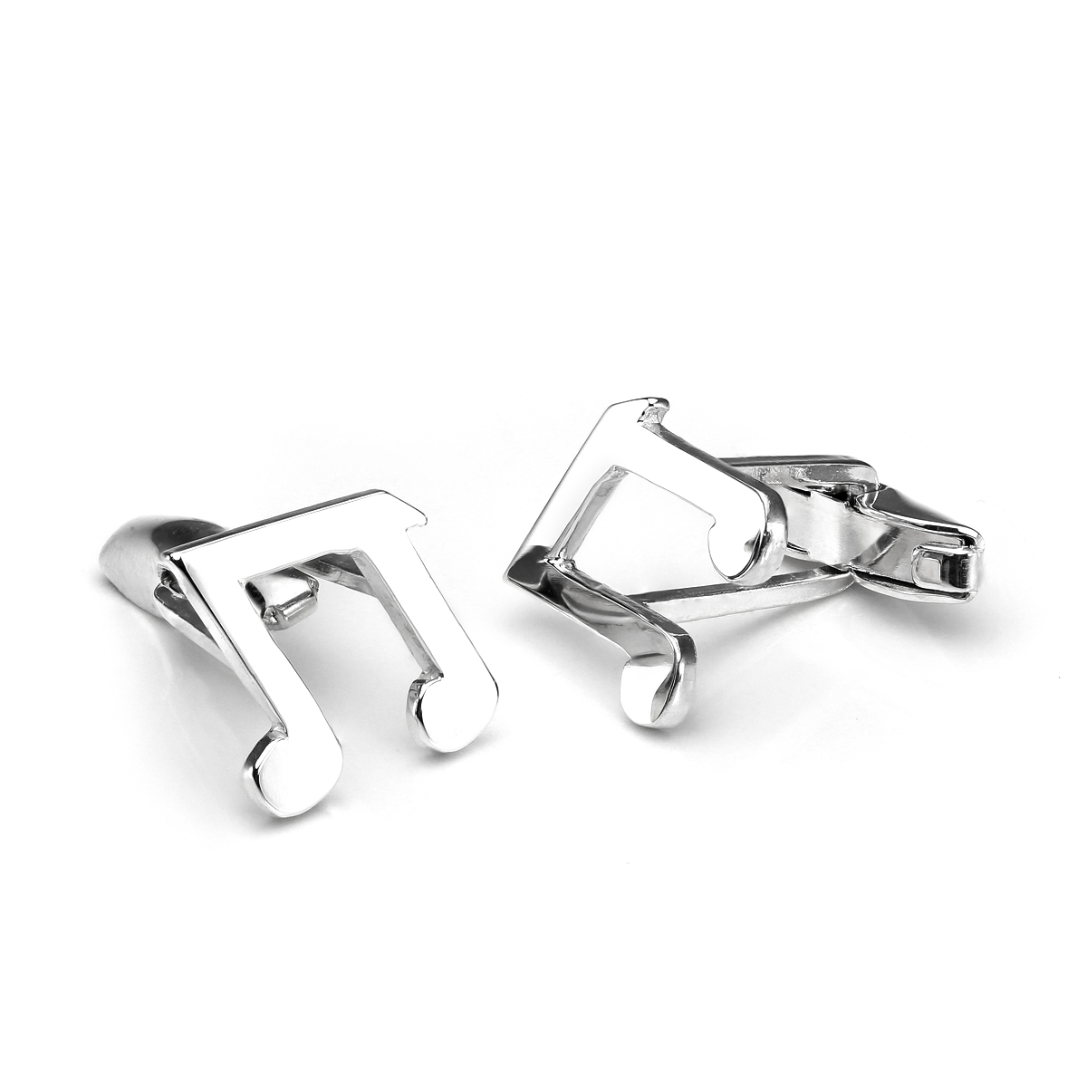 An image of Sterling Silver Music Note Swivel Back Cufflinks