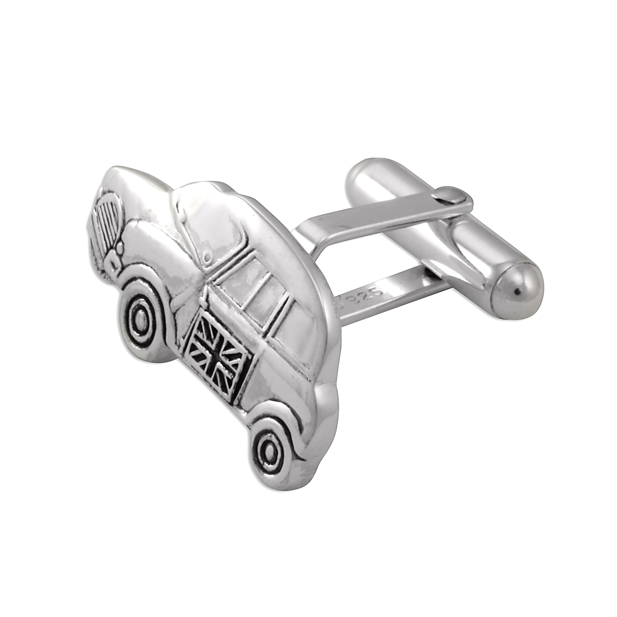 An image of Sterling Silver Mini Car Cufflinks