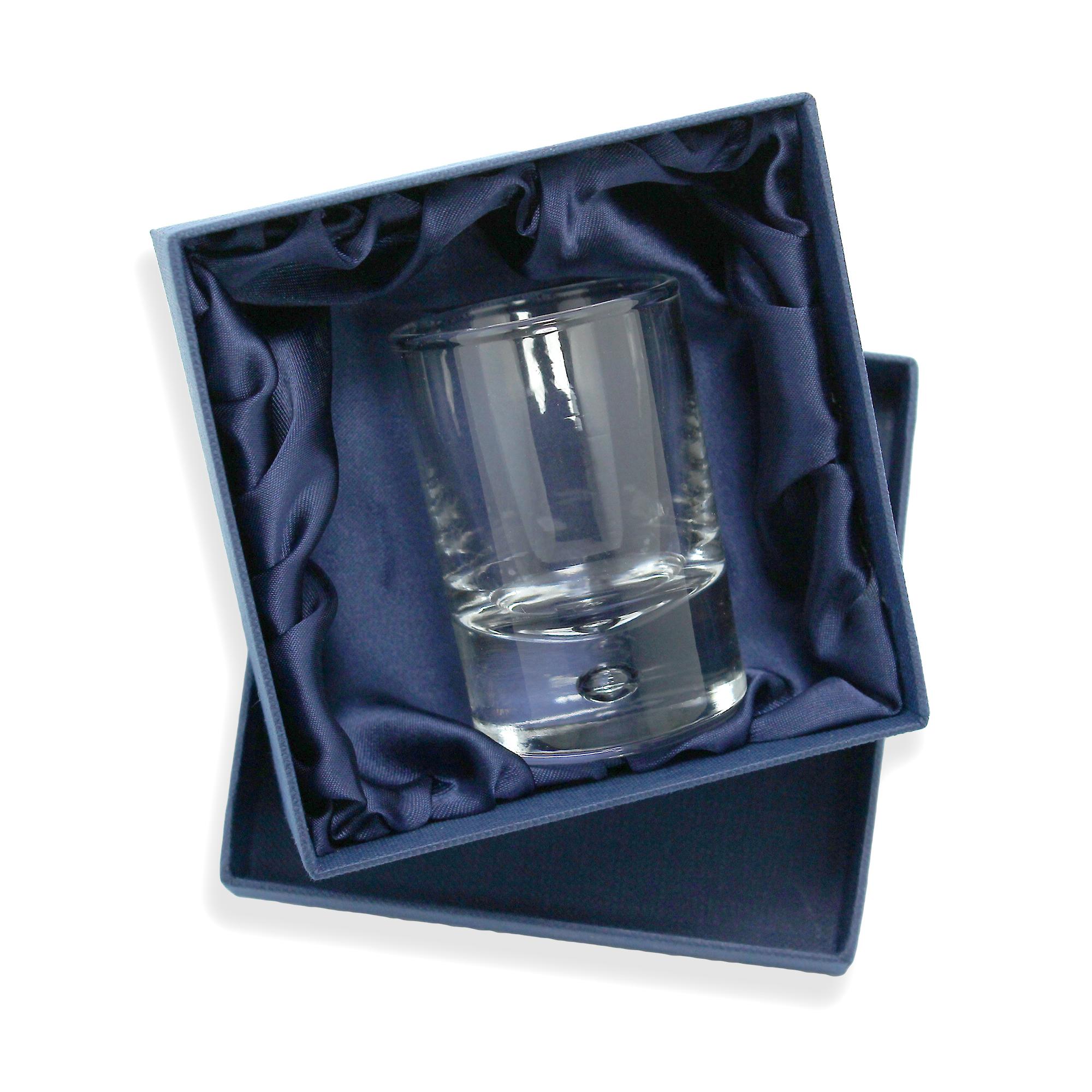 An image of Bubble Base Double Shot Glass