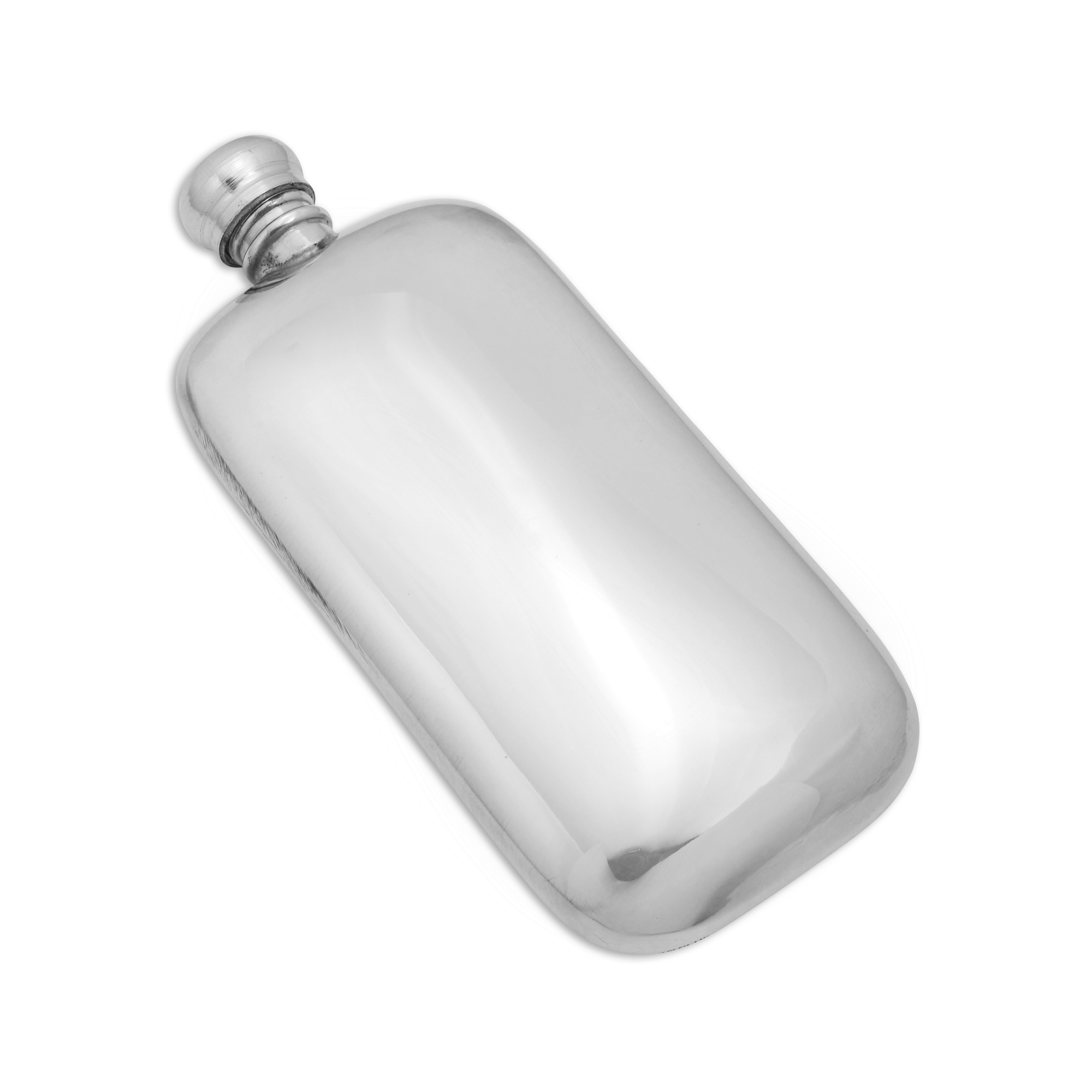 An image of 3oz Handmade Pewter Classic Engravable Pocket Hip Flask