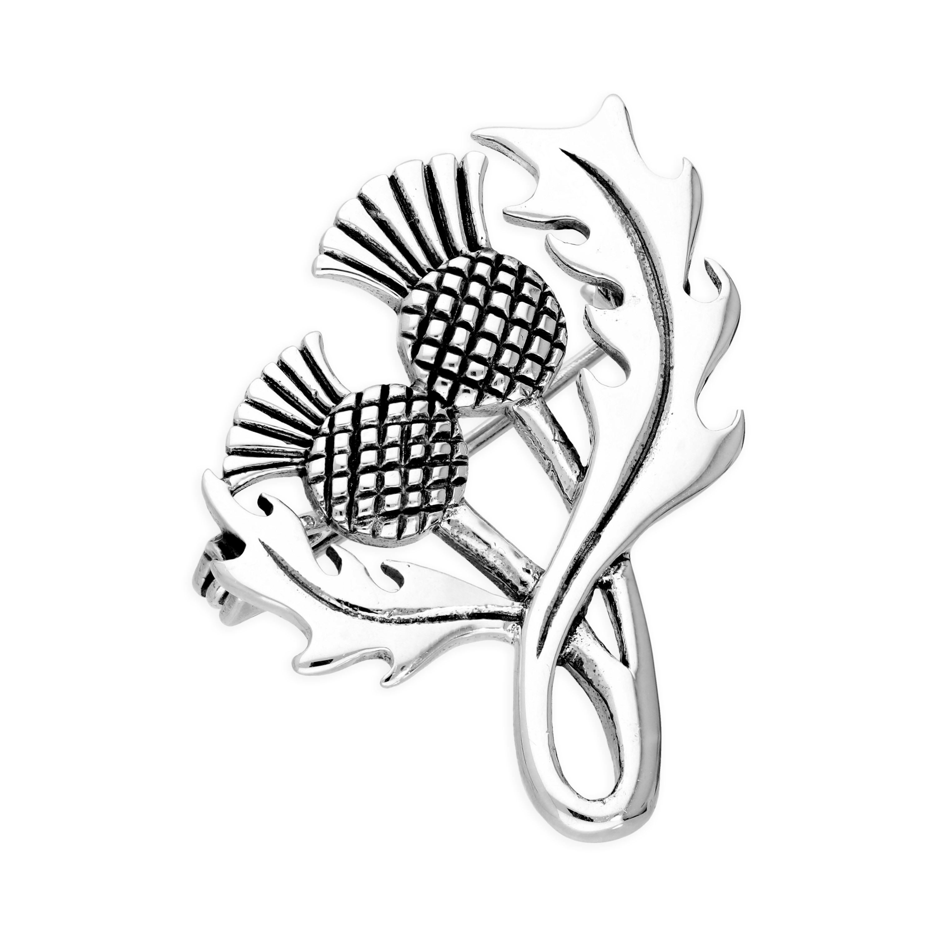An image of Sterling Silver Thistle Brooch