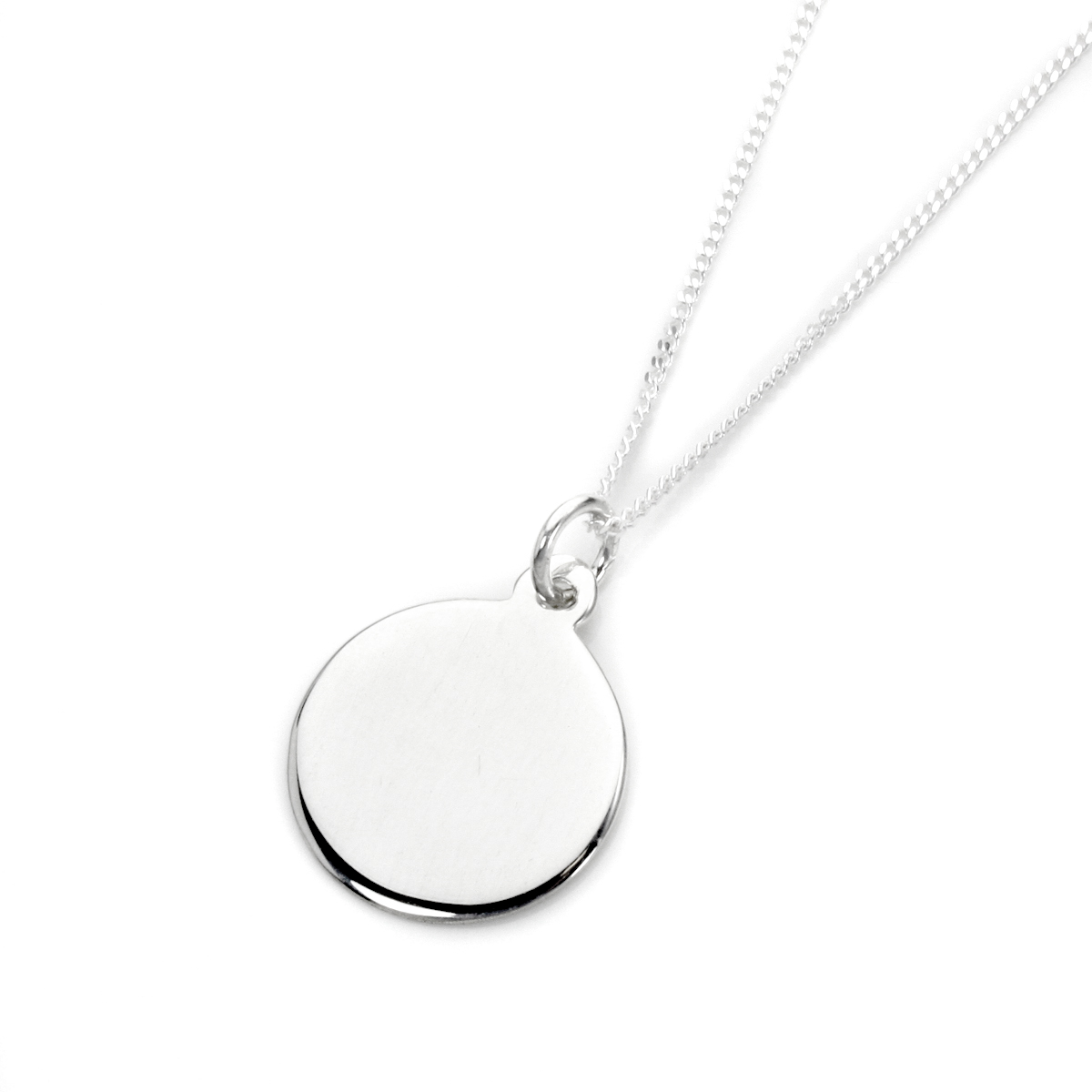 An image of Sterling Silver Engravable Round Pendant