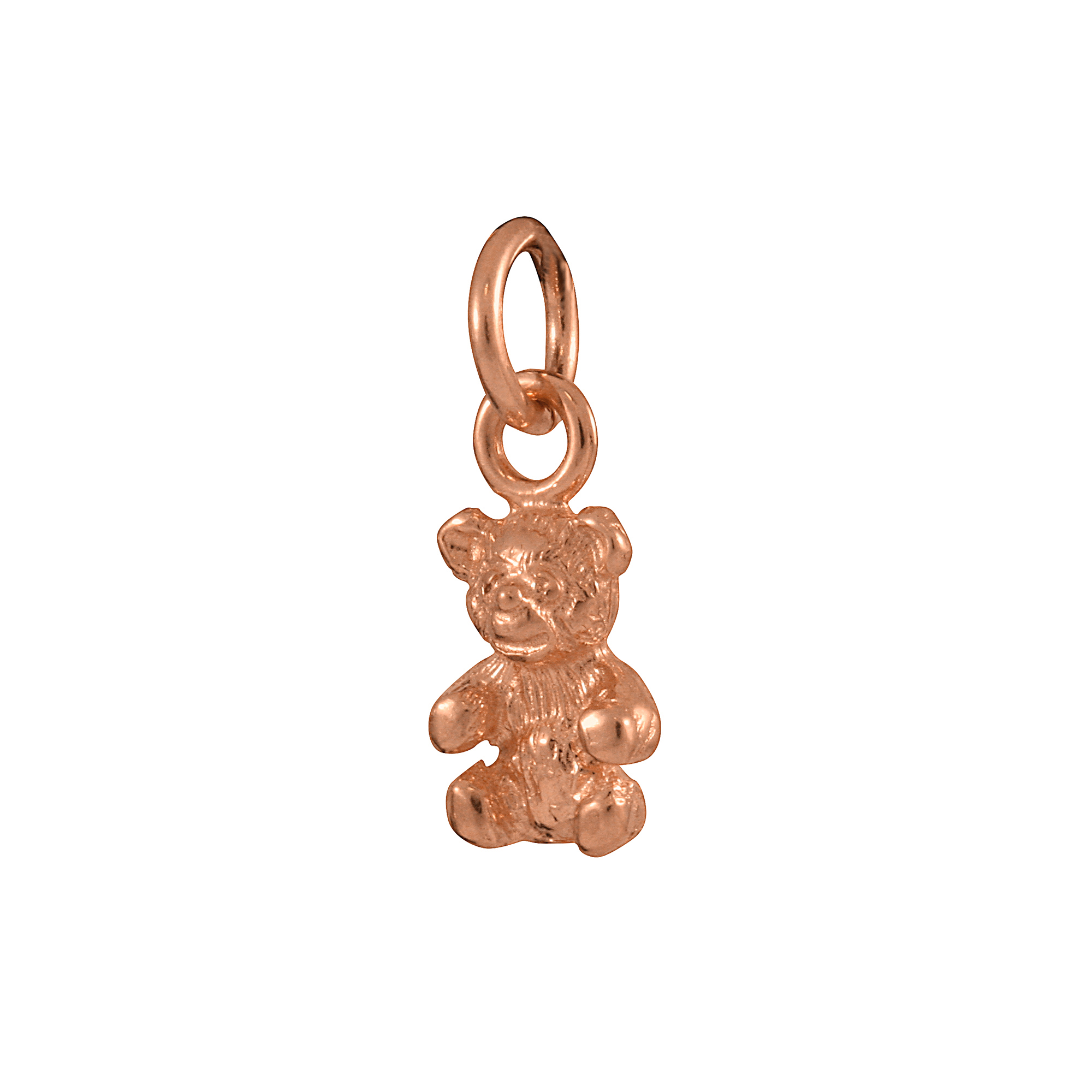 An image of 9ct Rose Gold Teddy Bear Charm