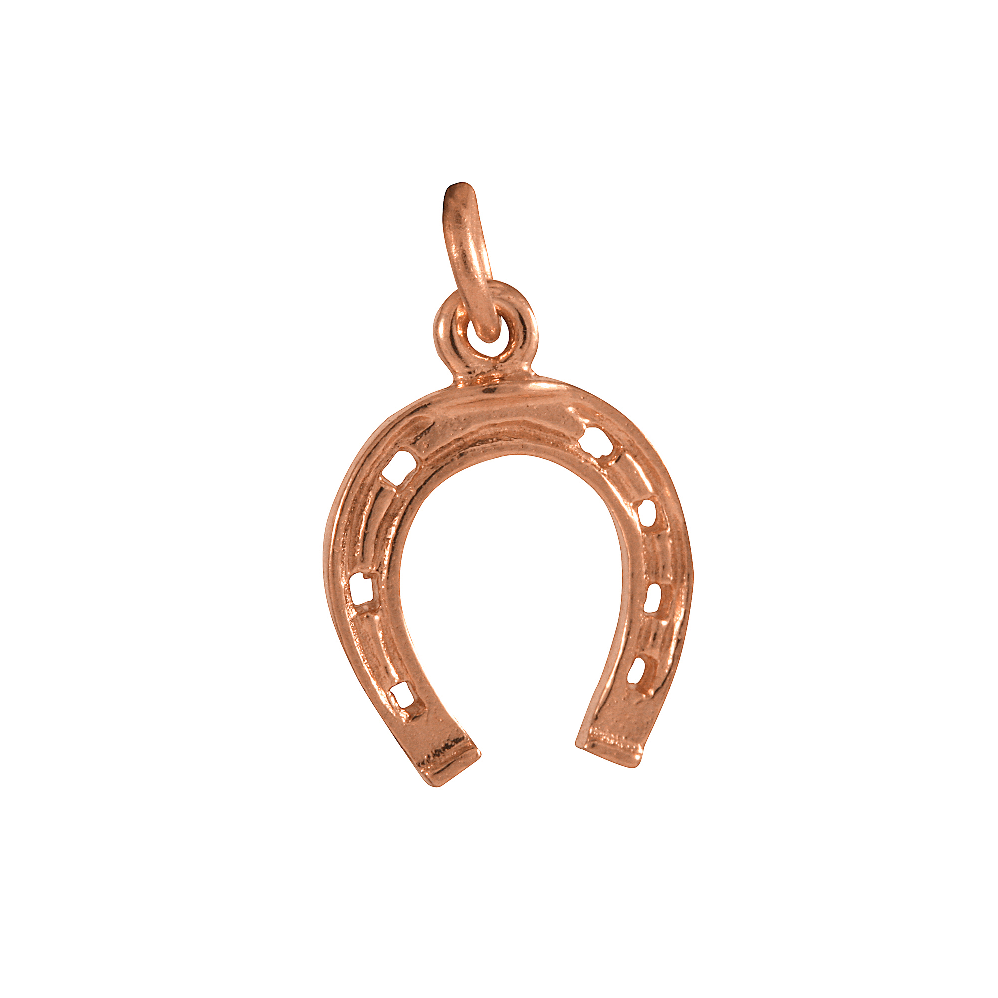 An image of 9ct Rose Gold Horseshoe Charm