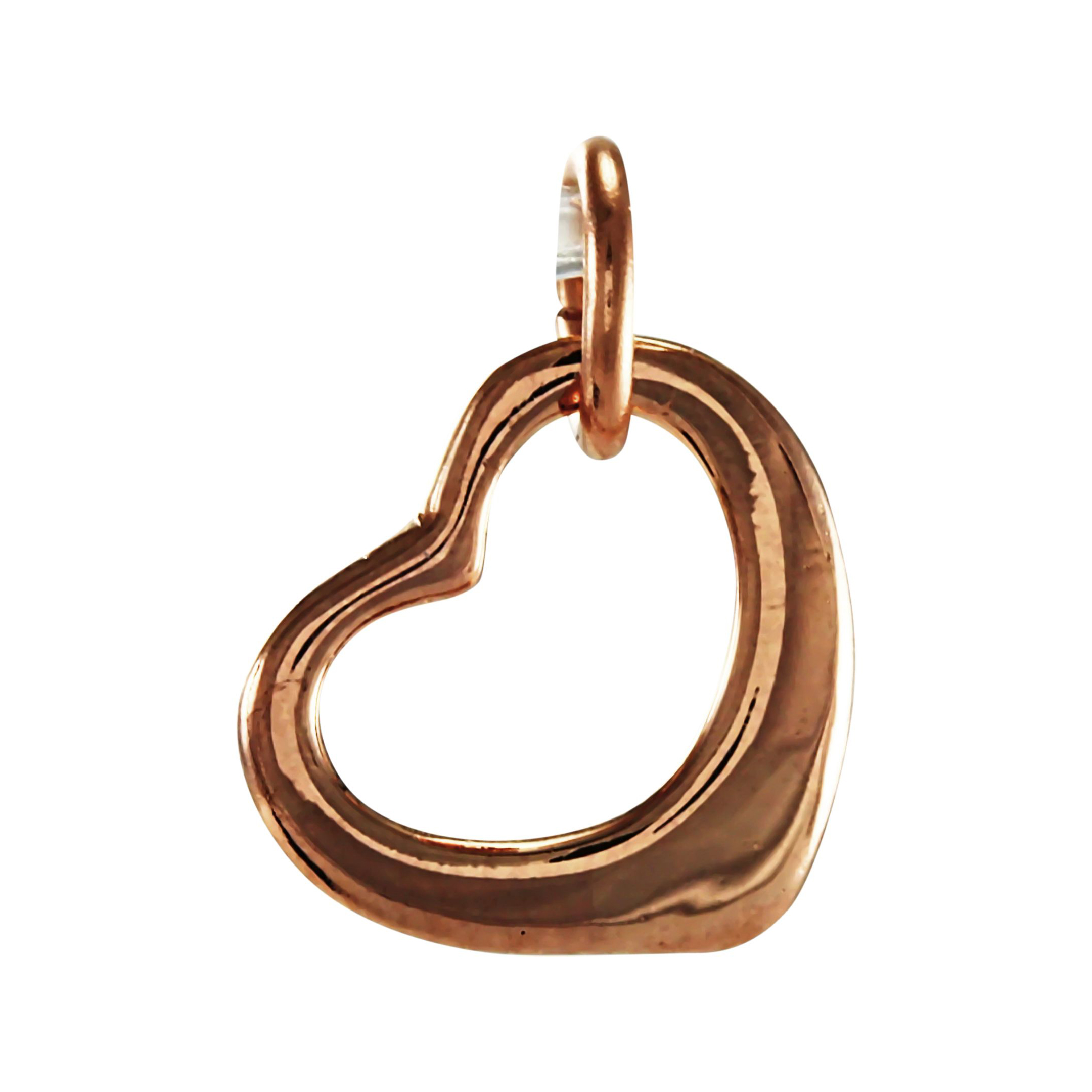 An image of 9ct Rose Gold Floating Heart Charm