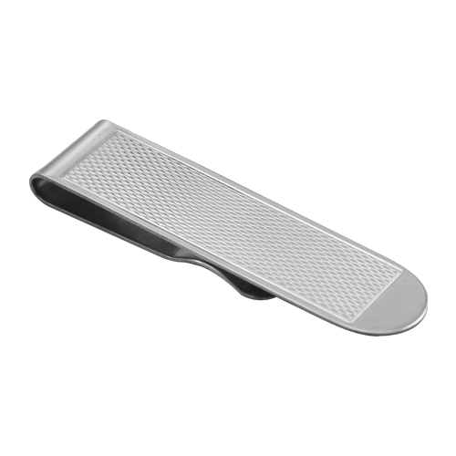 An image of Sterling Silver Engine Turned Money Clip