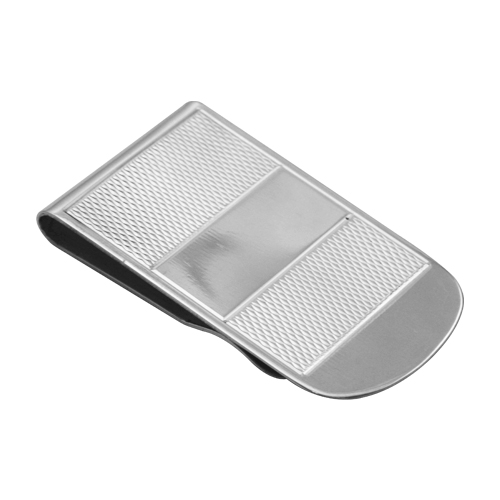An image of Sterling Silver Broad Patterned Money Clip