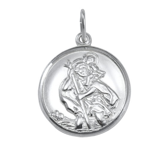An image of Sterling Silver St Christopher Pendant