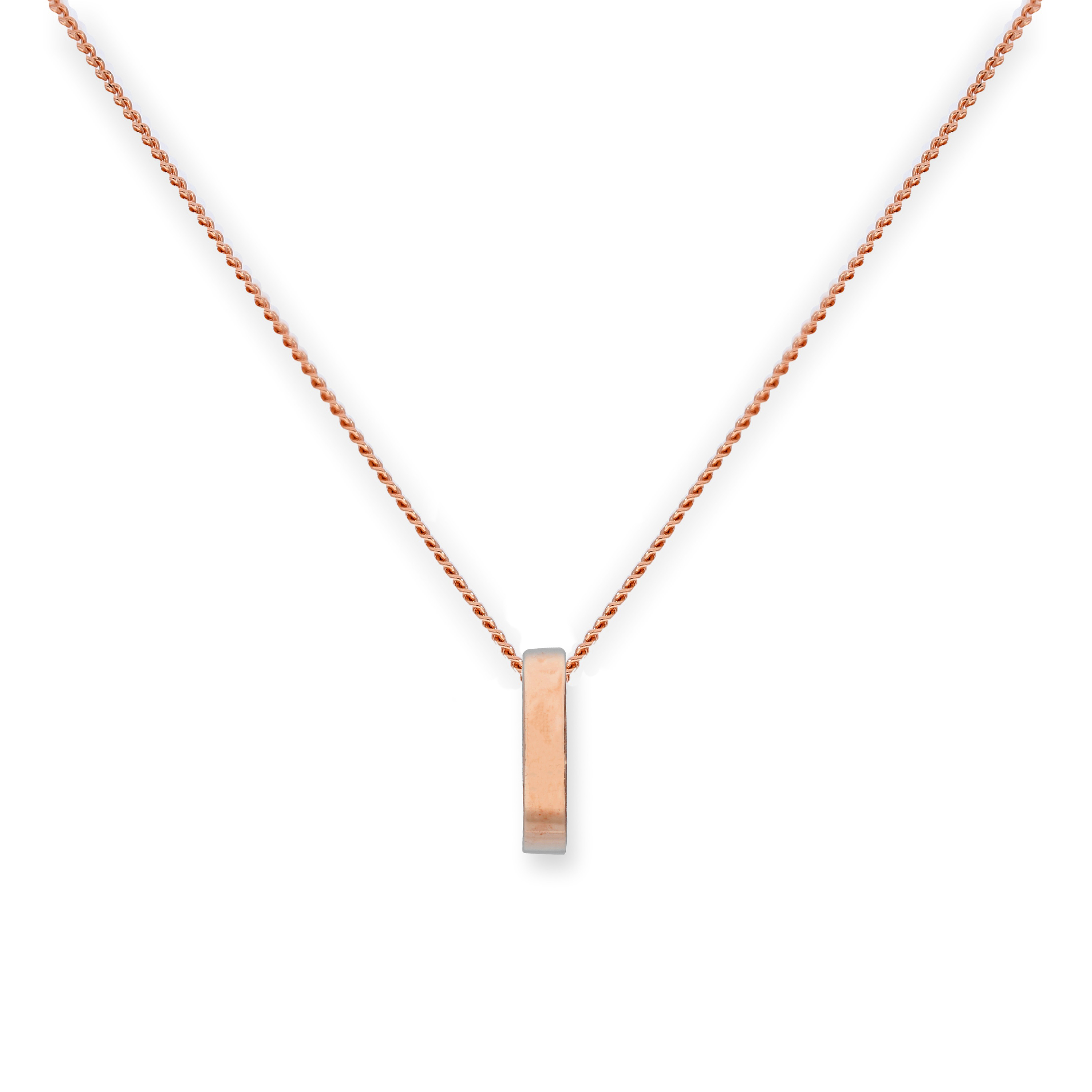 An image of 9ct Rose Gold Karma Circle Pendant Necklace 16 - 18 Inches