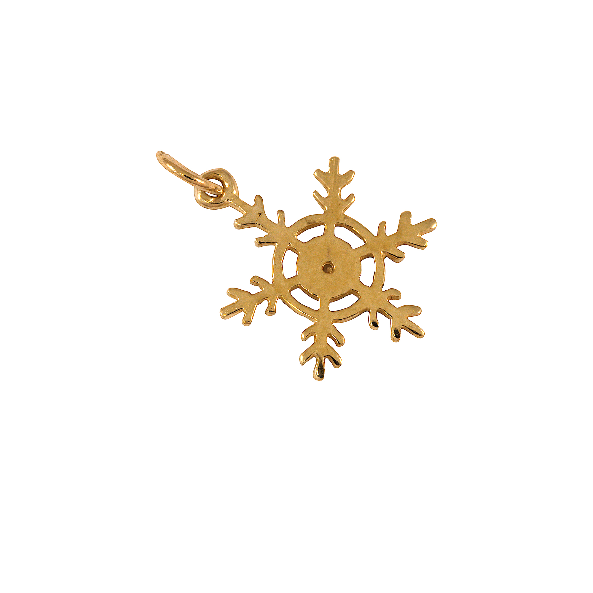 An image of 9ct Gold Snowflake Charm