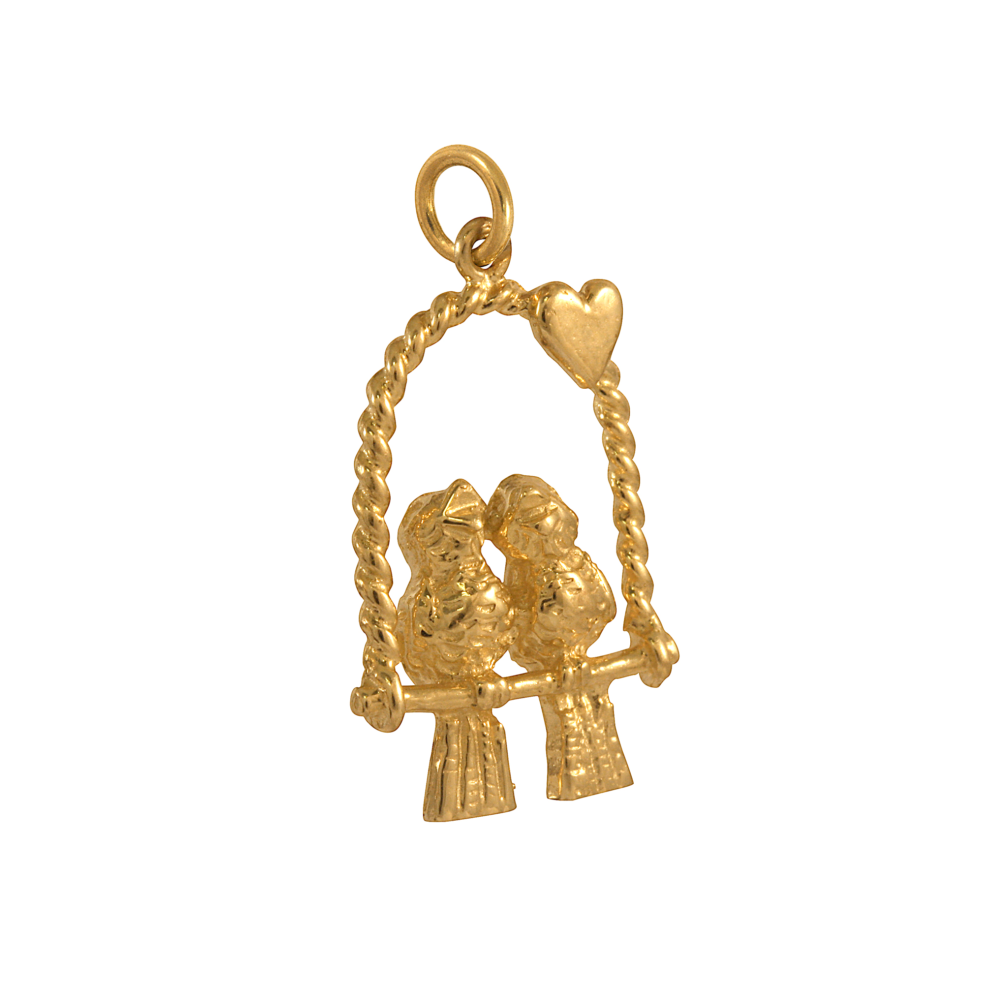 An image of 9ct Gold Love Birds Charms