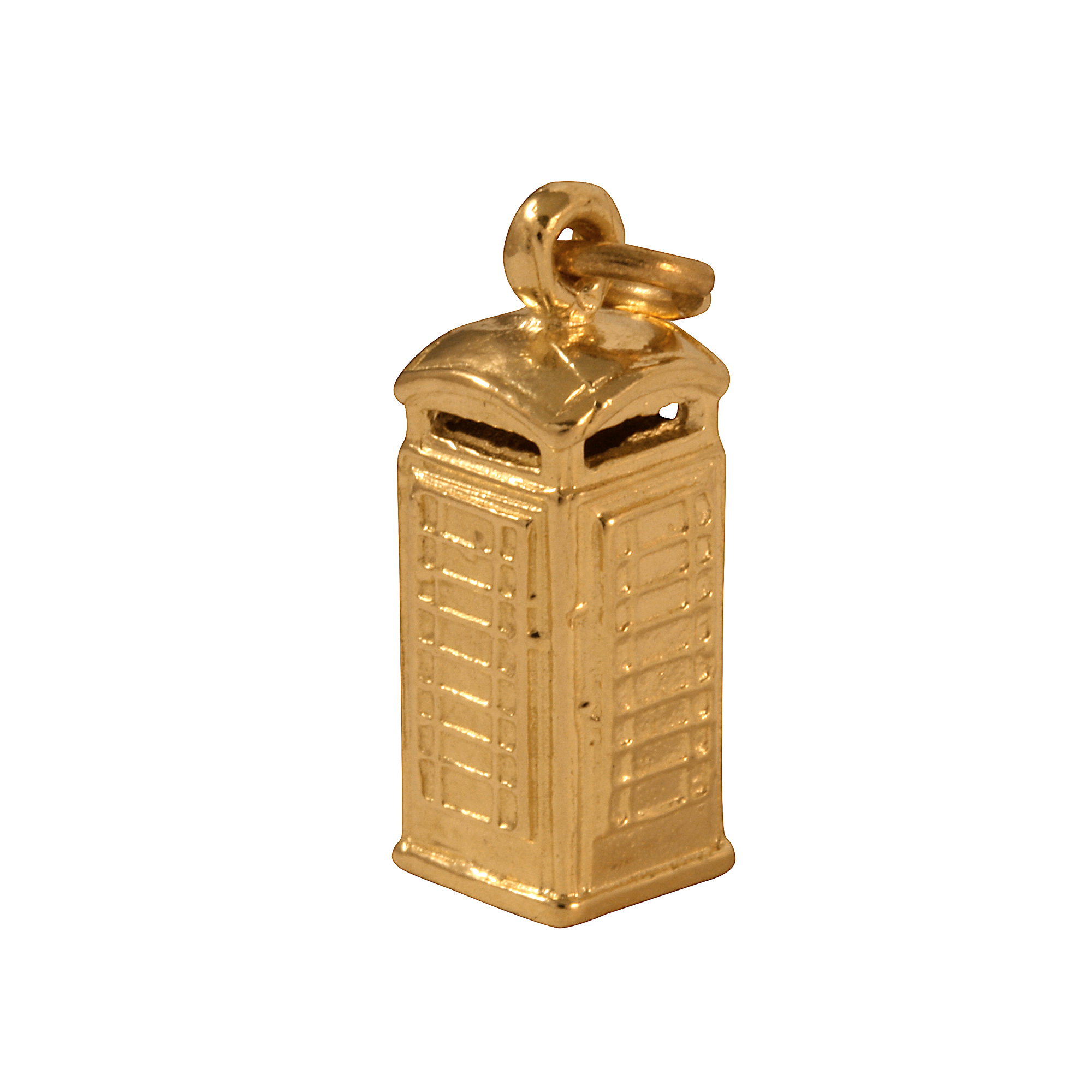 An image of 9ct Gold PhoneBox Charm