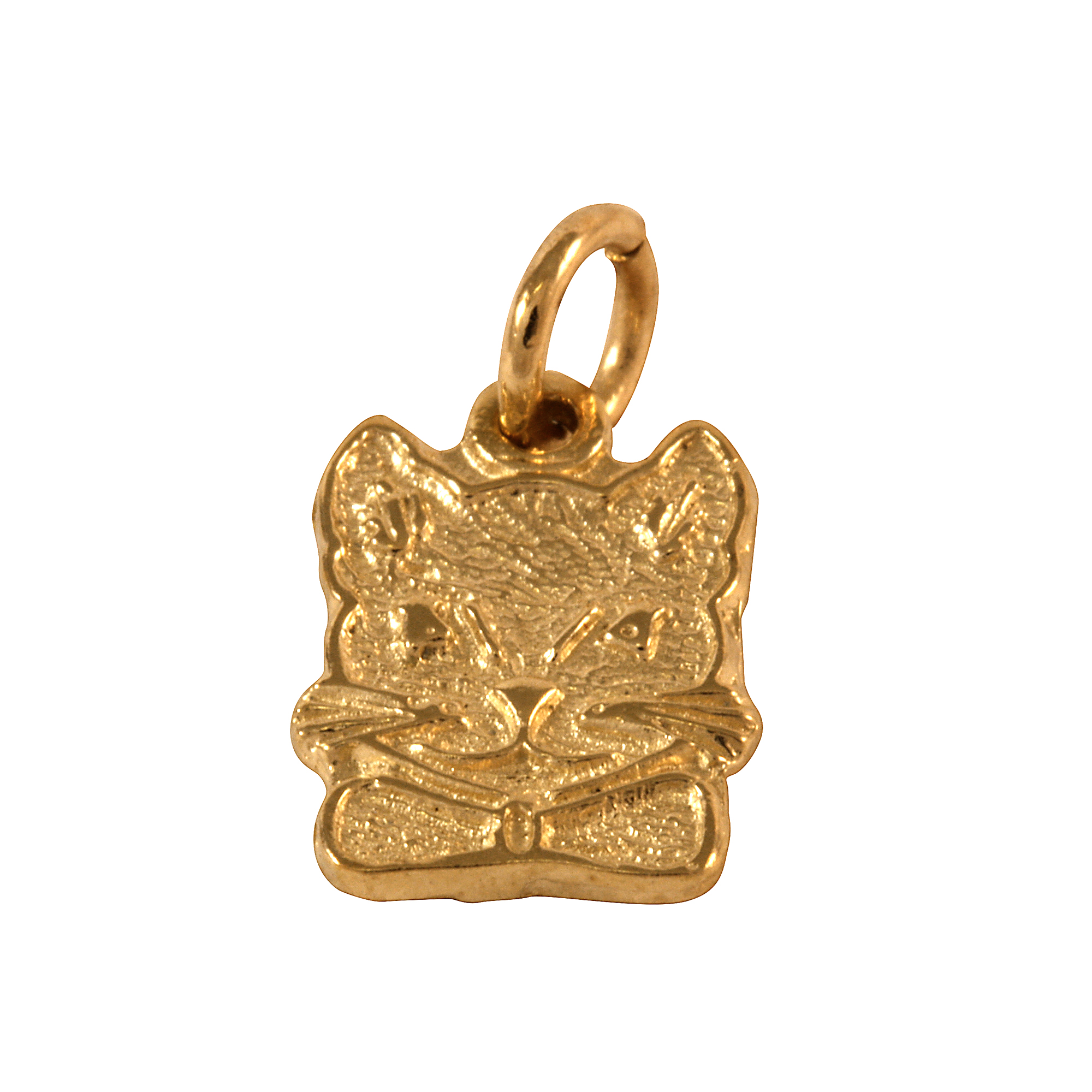 An image of 9ct Gold Cat Charm