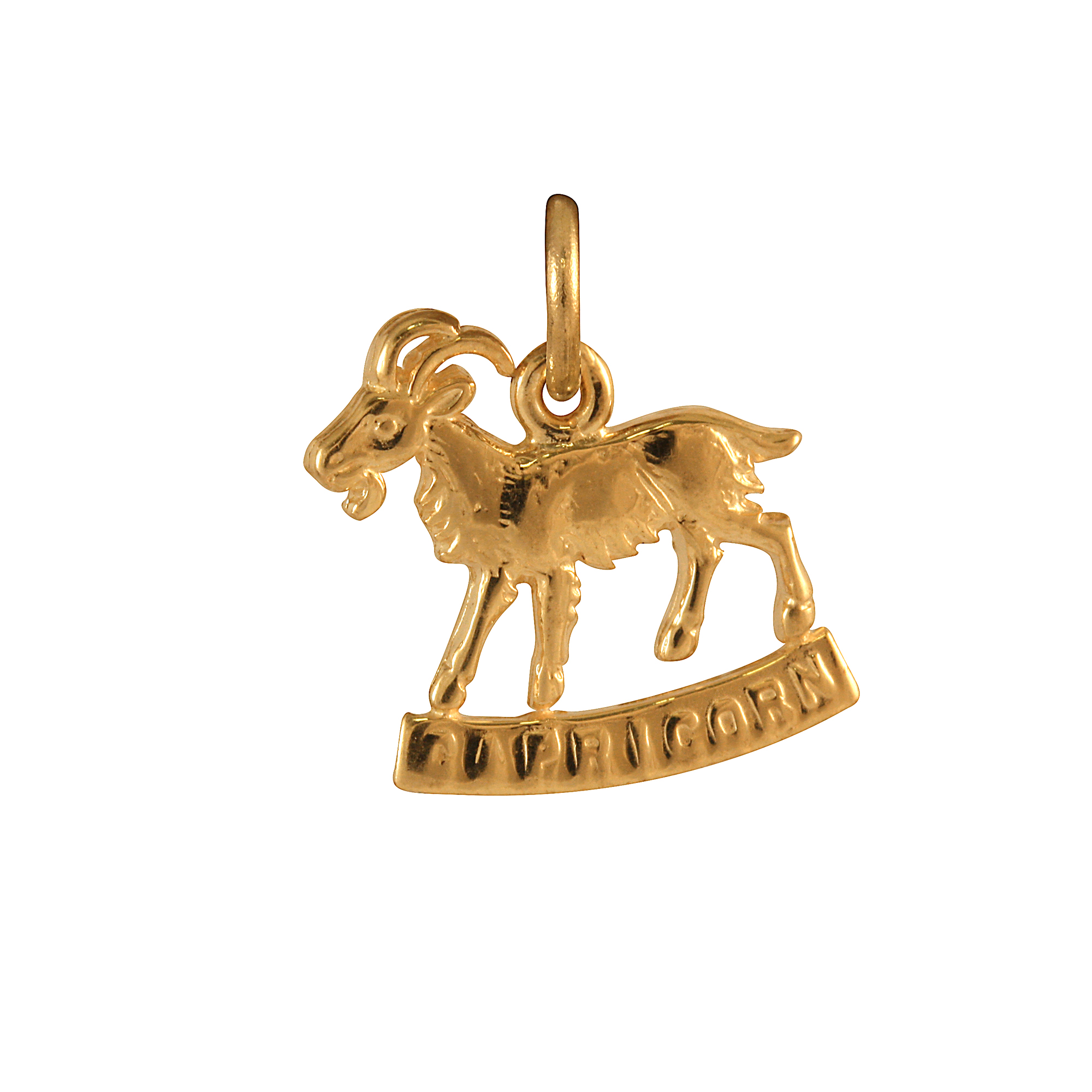 An image of 9ct Gold Capricorn Goat Charm