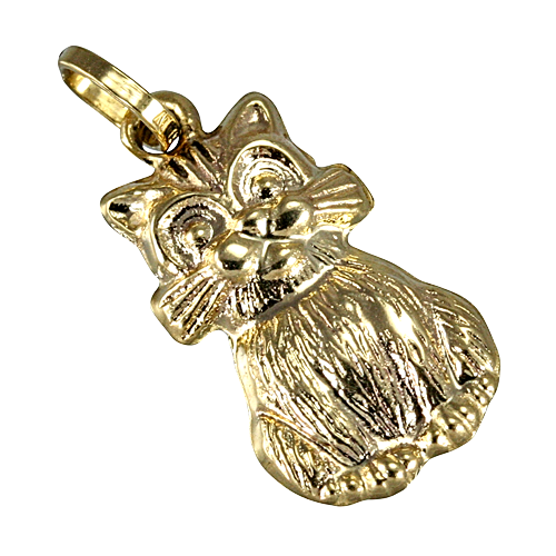 An image of 9ct Gold Hollow Cat Charm