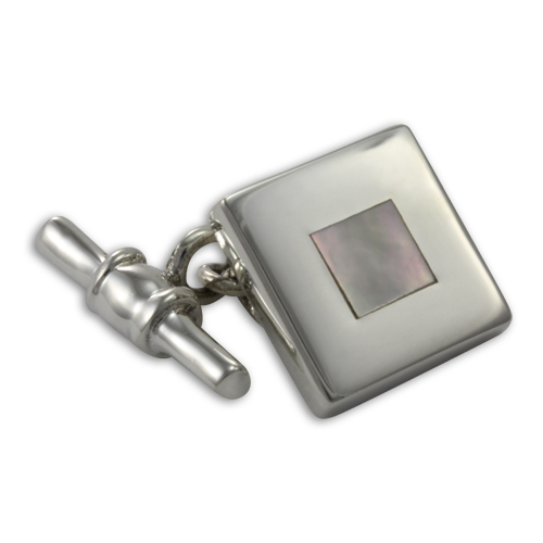 Sterling Silver Mother of Pearl Toggle Cufflinks