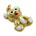 9ct Gold Enameled Teddy Charm