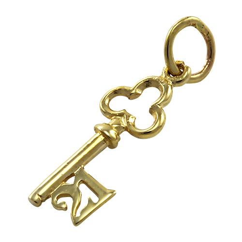 9ct Gold Small 21st Birthday Key Charm