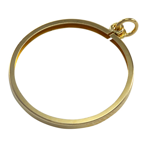 9ct Gold Half Sovereign Pendant Holder Charm